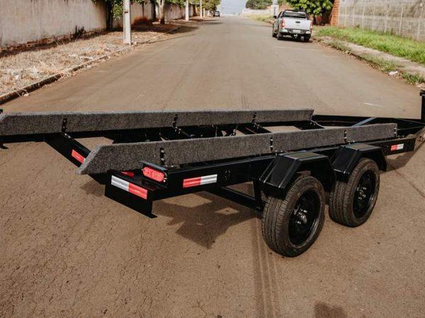 Carreta para lancha 19 a 24 pés sem freio